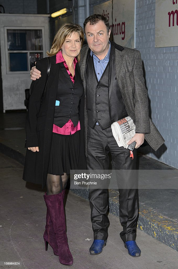 Penny Smith and Paul Ross sighted departing ITV Studios on January 4, 2013 in London, England.