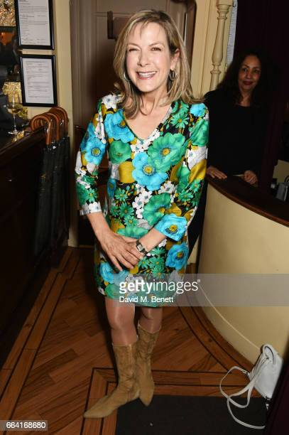 Penny Smith attends a party celebrating 40 years of Langan's Brasserie on April 3 2017 in London England