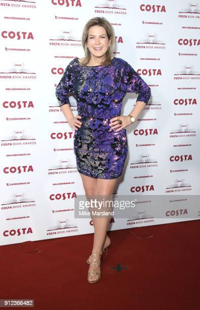 Penny Smith attends the 'Costa Book Awards' 2018 at Quaglinoâ™s on January 30 2018 in London Englan