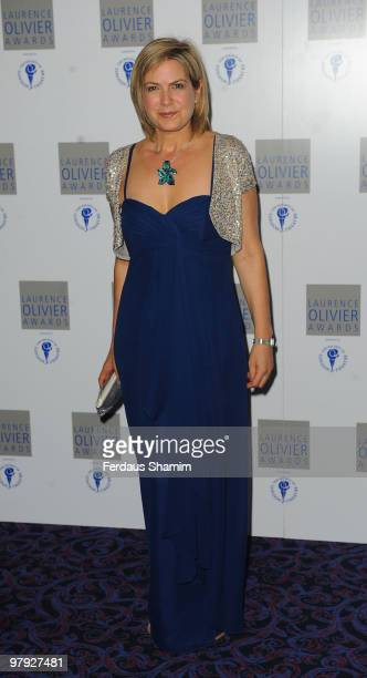 Penny Smith attends The Laurence Olivier Awards at The Grosvenor House Hotel on March 21 2010 in London England