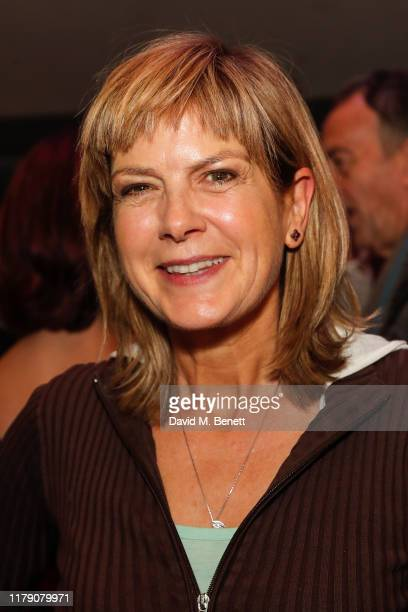 Penny Smith attends the press night performance of God's Dice at The Soho Theatre on October 30 2019 in London England