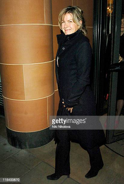Penny Smith during Celebrity Sightings at the Cipriani Restaurant in London January 20 2006 at Cipriani in London Great Britain