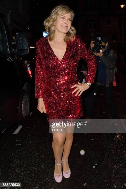 Penny Smith seen outside the Costa Book Awards at Quaglinos on January 31 2017 in London England