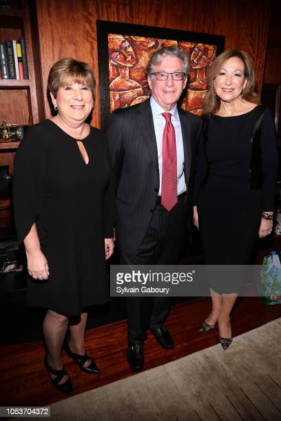 Penny Swift Richard Bernstein and Katherine Damkohler attend Private Party At The Home Of Joshua Bell And Larisa Martinez In Support Of Education...