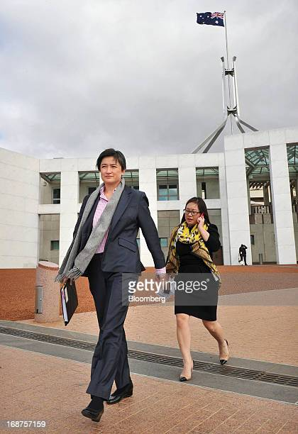 Penny Wong Australia's finance minister left leaves Parliament House in Canberra Australia on Wednesday May 15 2013 Australia's government is wooing...