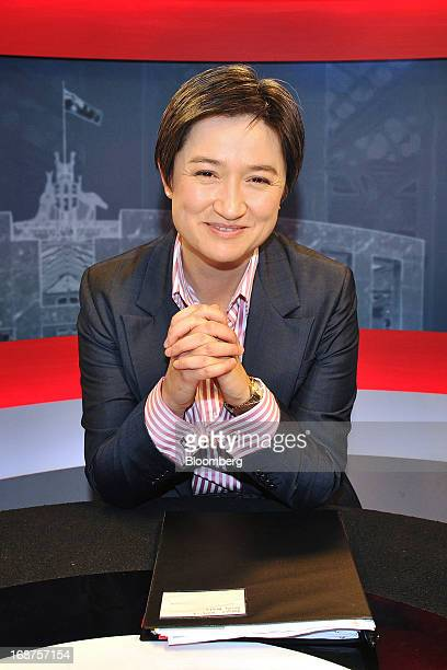 Penny Wong Australia's finance minister poses for a photograph in the television studio at Parliament House in Canberra Australia on Wednesday May 15...