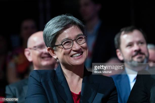 Penny Wong is pictured a 2019 Federal Election Volunteer Rally in Burwood on April 14 2019 in Sydney Australia The 2019 Federal Election will be held...
