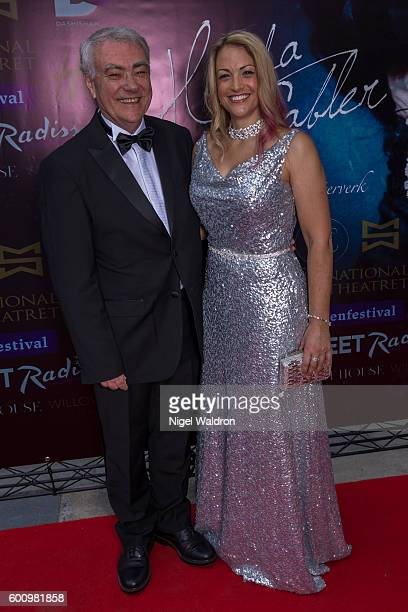 Penny Wood and her father Harvey Wood attend the Norwegian premiere of Hedda Gabler held at the Vika Cinema on September 08 2016 in Oslo Norway