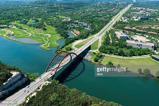 Pennybacker 360 bridge on Colorado River near Austin Texas
