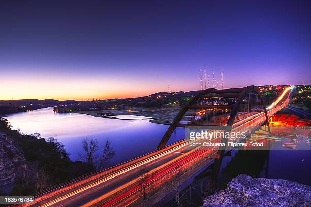 pennybacker bridge - austin texas stock pictures, royalty-free photos & images