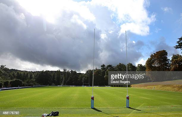 Pennyhill Park home base for England rugby during the England training session at Pennyhill Park on September 14 2015 in Bagshot England