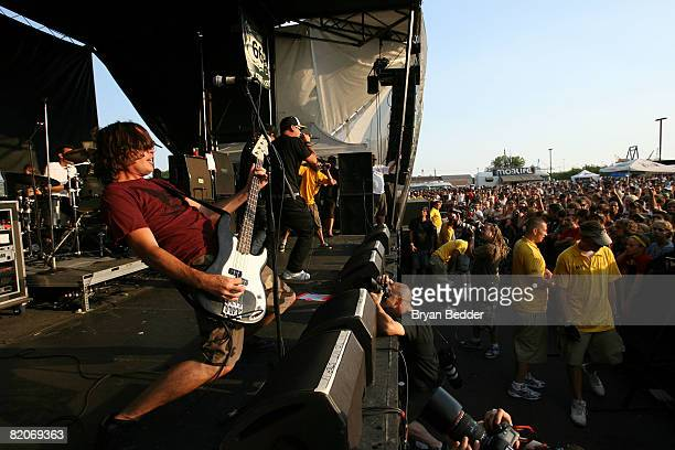 Pennywise performs at the Vans Warped Tour on July 25 2008 in Camden New Jersey