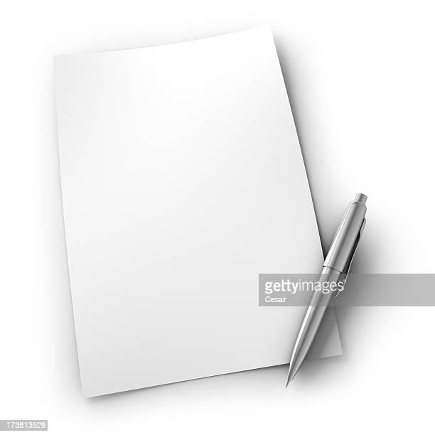 Bolígrafo & papel superior
