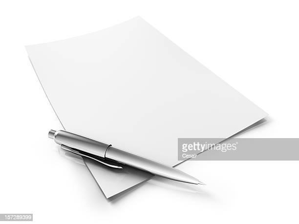 Stylo & Blanc papier