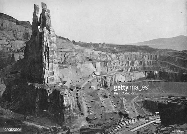 Penrhyn Slate Quarries' circa 1896 From Pictorial England and Wales [Cassell and Company Limited London Paris Melbourne circa 1896] Artist John...