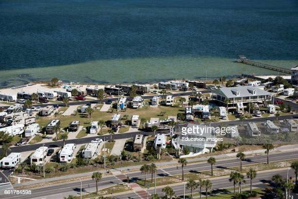 Pensacola Beach Florida USA Overview of a RV seaside park