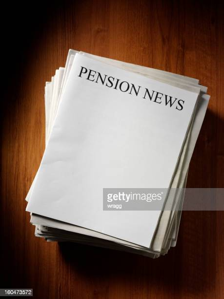 pension newspaper headline - front page stock photos and pictures
