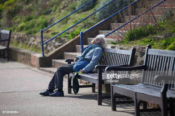 pensioner in england - eastbourne stock photos and pictures