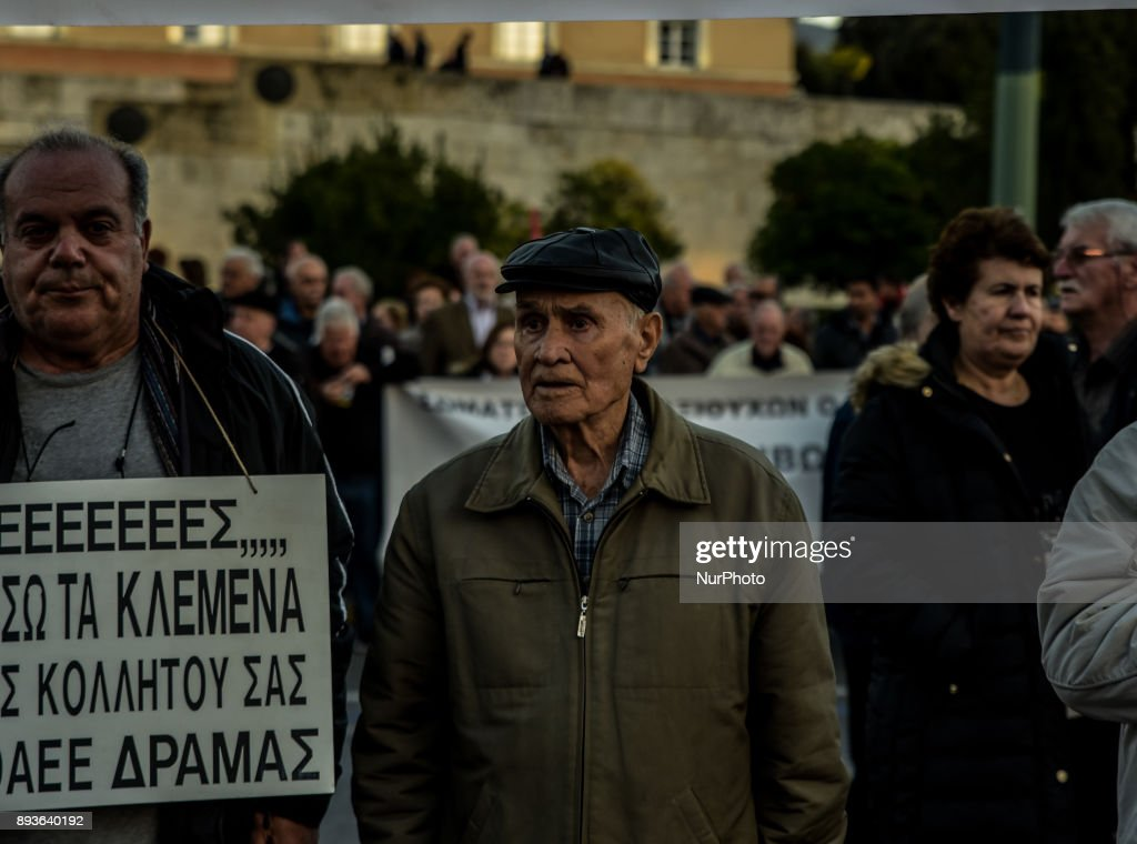 Protest against planned pension reforms in Greece