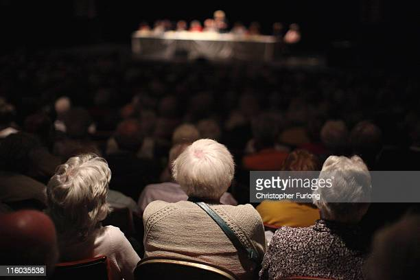 Pensioners listen to speakers as they attend their annual Pensioners Parliament at The Winter Gardens on June 14 2011 in Blackpool England Senior...