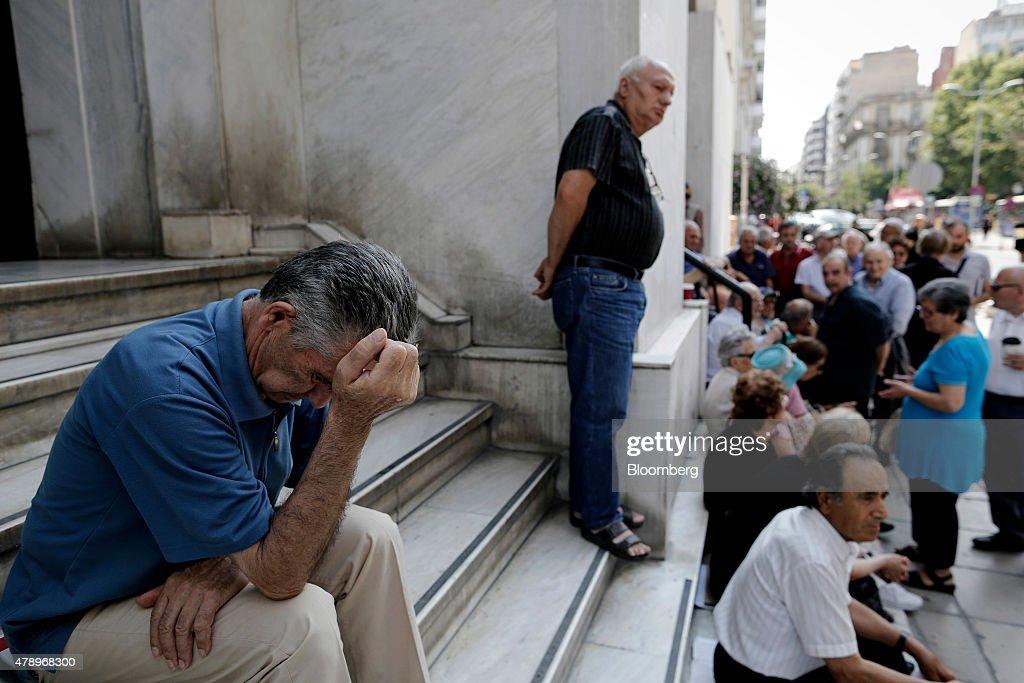 Reaction As Greece Imposes Capital Control : News Photo