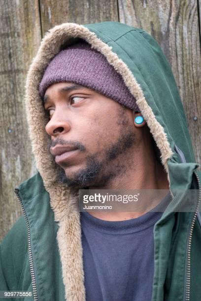 Pensive black man