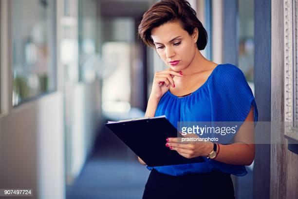 Pensive businesswoman under stress