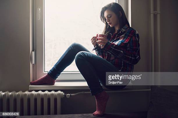 pensive in the morning - sock stock pictures, royalty-free photos & images
