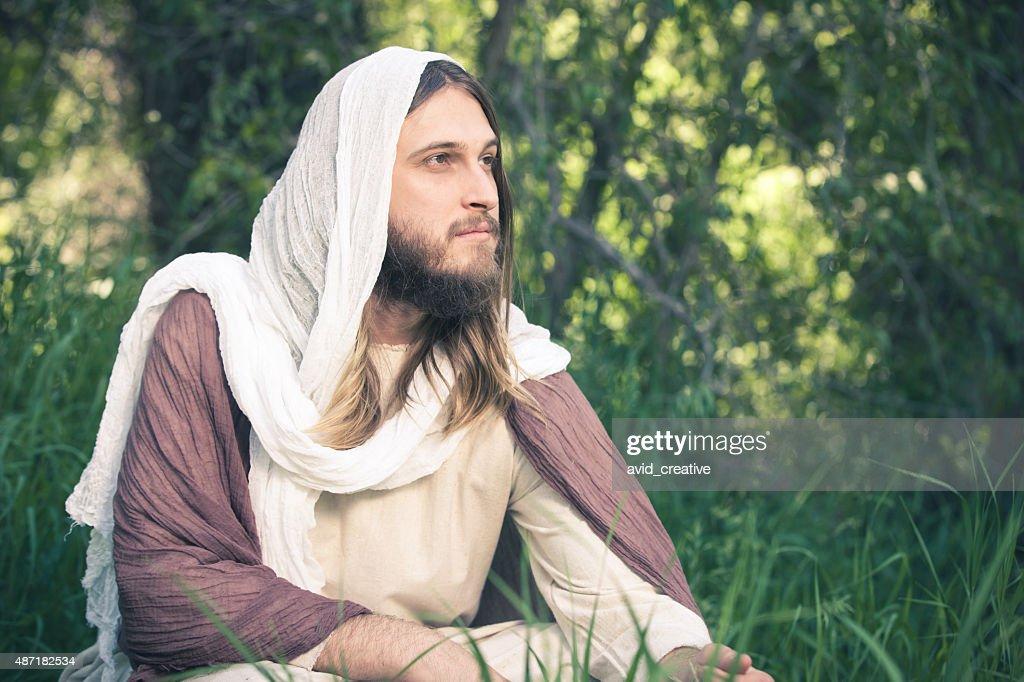 Pensive Jesus Christ : Stock Photo