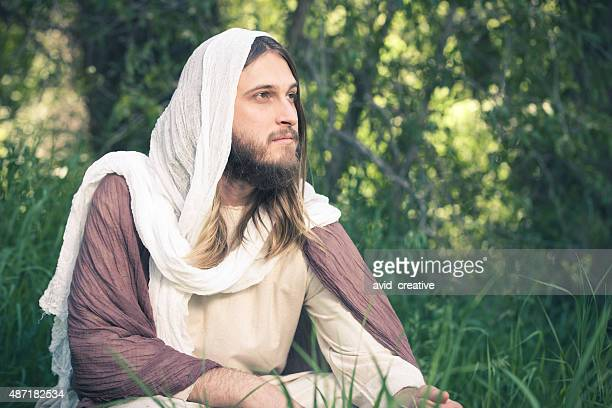 pensive jesus christ - happy easter jesus stock pictures, royalty-free photos & images