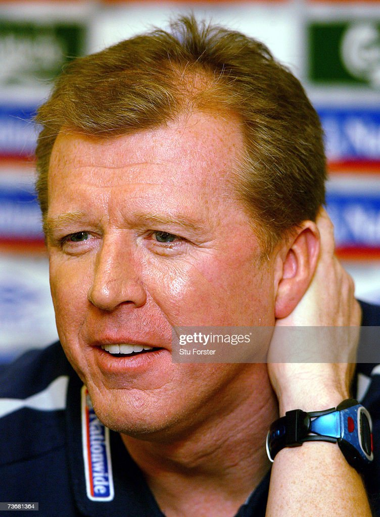 A Pensive looking England Coach Steve McClaren answers questions during the England Press Conference at The Daniel Hotel ahead of tomorrows Euro 2008 Qualifier against Israel on March 23, 2007 in Tel Aviv, Israel.