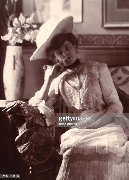 Pensive woman Ca 1896 Photograph by Constant Puyo