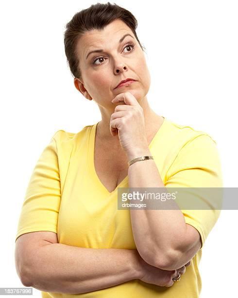 Pensive Woman Thinking