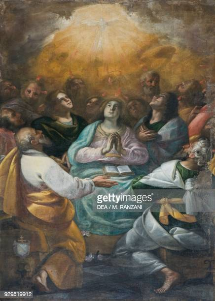 Pentecost 17th century attributed to Giovanni Antonio Colomba's workshop Chapel of the Holy Spirit Church of Saints Fidelis and Simon Vico Morcote...