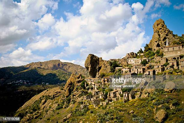 pentedattilo - reggio calabria stock pictures, royalty-free photos & images