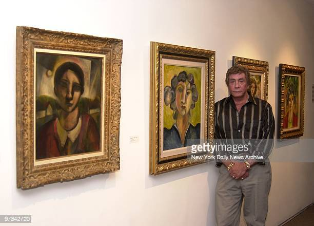 Penthouse magazine publisher Bob Guccione exhibiting his art work at the Hillwood Art Museum at CW Post College