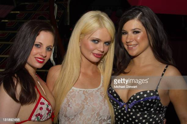 Penthouse Pet Alexis Ford and Rick's Girls attend the Confessions Of The Hundred Hottest Porn Stars book launch party at Rick's Cabaret on June 14...