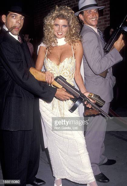 Penthouse Pet Amy Lynn Baxter attends the Mobsters Premiere Party on July 22 1991 at Laura Belle's in New York City