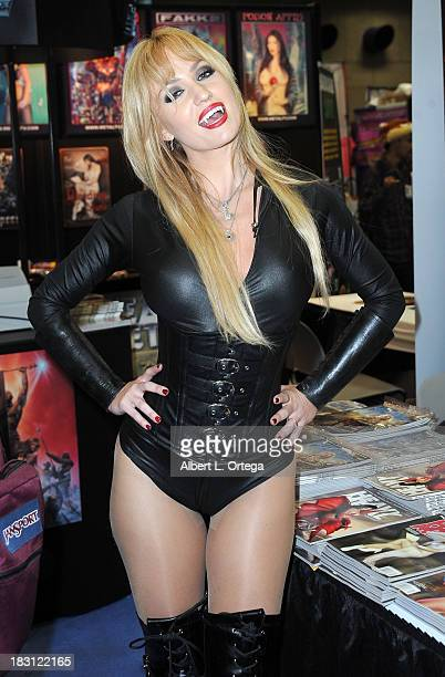 Penthouse Pet Angela Sommers attends Day 2 of the 2013 Comic-Con International - General Atmosphere held at San Diego Convention Center on Friday...