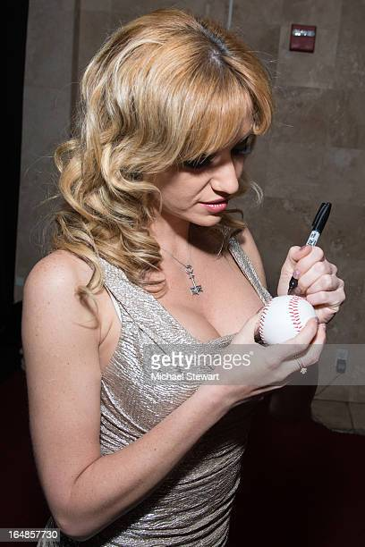 Penthouse Pet Angela Sommers visits Headquarters on March 28 2013 in New York City