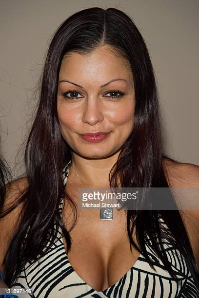 Penthouse Pet Aria Giovanni attends the 'Confessions Of The Hundred Hottest Porn Stars' book launch party at Rick's Cabaret on June 14 2011 in New...
