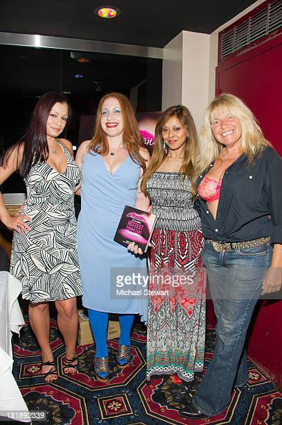 Penthouse Pet Aria Giovanni author Lainie Speiser Penthouse Pet Anjur McIntyre and TV personality Robin Byrd attend the 'Confessions Of The Hundred...