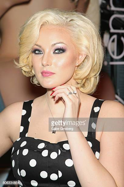 Penthouse Pet Jenna Ivory attends the 2016 AVN Adult Entertainment Expo at the Hard Rock Hotel Casino on January 22 2016 in Las Vegas Nevada