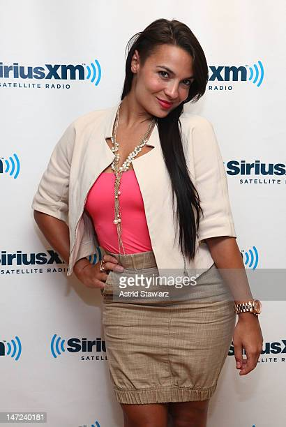 Penthouse Pet Krista Ayne visits 'The Judith Regan Show' at the SiriusXM Studios on June 27 2012 in New York City