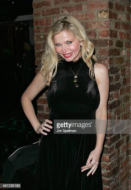 Penthouse Pet of the Year '04 DrVictoria Zdrok attends the Rock of Love Bus screening party at Home on February 15 2009 in New York City