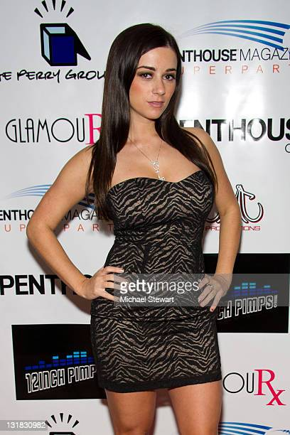 Penthouse Pet of the Year 2010 Taylor Vixen attends the Penthouse Super Party at American Airlines Center on February 4 2011 in Dallas Texas