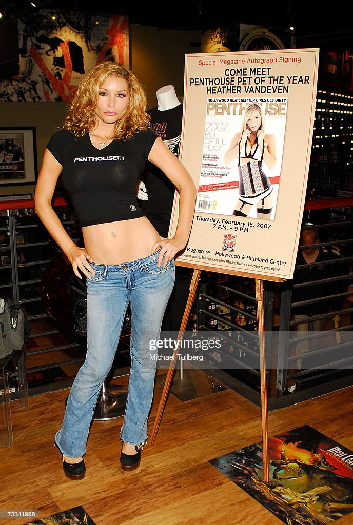 2007 penthouse pet of the year at virgin megastore photos and images