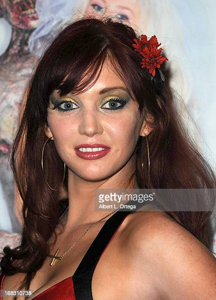 Penthouse Pet Veronica Ricci attends The Girls and Corpses spring issue premiere party and hypnosis show held at Busby's on April 27 2013 in Los...