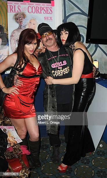 Penthouse Pet Veronica Ricci publsiher Robert Rhine and fetish model Snow Mercy attend The Girls and Corpses spring issue premiere party and hypnosis...