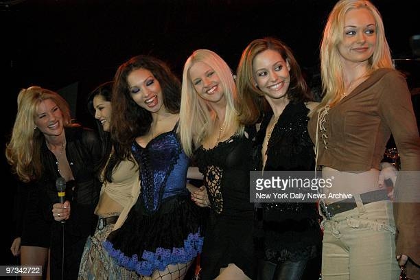Penthouse Pets line up on the stage at the Tommy Lee concert at B.B. King Blues Club & Grill in Times Square. The Pets declined Lee's pleas to go...